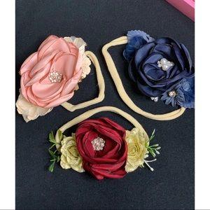 3pc Floral Infant/Toddler/Newborn Headbands